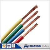 cableado eléctrico aislado PVC del alambre de tierra del amarillo del verde del alambre 450V/750V en hogar
