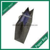 Изготовленный на заказ мешок смещенной бумаги покрашенный бумажный с веревочками хлопка