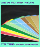 Cartão em branco do PVC do vermelho de Cr80/30mil para o estoque do varejista