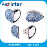 소형 방수 USB 기억 장치 디스크 심혼 모양 결정 USB Pendrive