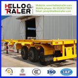 3 de Aanhangwagen van de Container van het Skelet van de as voor het Vervoer van de Container 40/20FT