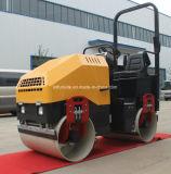 Compresor hidráulico del suelo del tambor del doble de la vibración de 1.8 toneladas