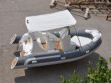 Шлюпка самого лучшего сбывания Liya 19ft высокоскоростная раздувная с шлюпкой роскоши Китая забортного двигателя