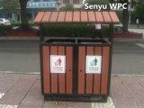 WPC cubo de basura al aire libre
