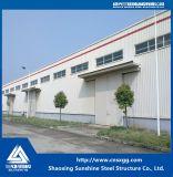 Struttura d'acciaio chiara della fabbrica della tettoia della costruzione di basso costo della struttura d'acciaio