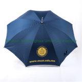 Зонтик гольфа качества Windproof подгонянный алюминием прямой с UV тканью (GOL-0027AFA)