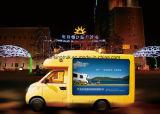 Porte extérieure mobile DEL de vente chaude annonçant le camion de panneau d'affichage avec l'écran de P6 P10