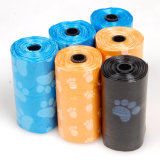 Tatze-Drucken-Plastikhaustier-Abfall-Hundepoop-Beutel auf Rolle