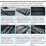 Plástico/borracha/cilindro/madeira/pneumático/película/protuberâncias/sacos enormes/tecidos do Shredder dobro do eixo