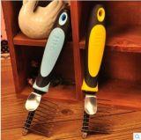 Los peines de acero del pelo de las agujas de la mano plástica del animal doméstico dirigen a surtidor, producto del animal doméstico