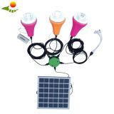 Mini sistema Home solar portátil móvel do painel solar de sistema de iluminação 15W