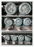 Línea recta vertical máquina que bisela del sistema de control del PLC