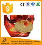 赤のリボンが付いている2017の習慣の記念品の金属メダル