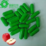 Capsule verte et blanche d'Apple au vinaigre de cidre organique de perte de poids