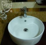 Bacia cerâmica do banheiro redondo