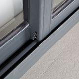 Finestra di scivolamento di alluminio della serratura a mezzaluna rivestita della polvere Kz003