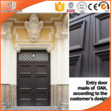 Древесиной двери самой последней конструкции Китая деревянной одиночной главной прикрепленной на петлях, ультрамодного и ретро дверь прикрепленная на петлях от китайского тавра