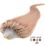 ブロンドインドのRemyの人間の毛髪のマイクロリングのループ毛の拡張黒ブラウン