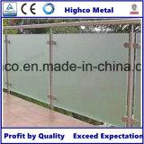 円形のポストが付いているガラス柵のためのステンレス鋼のガラスクランプ