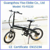 Bestes verstecktes faltendes elektrisches Fahrrad 20kg mit entfernbarem Batterie-Satz