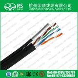 Cable de LAN de la red de UTP Cat5e 24AWG con el mensajero