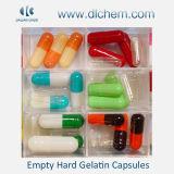 Cápsulas de Gelatin duras vazias em alguma cor