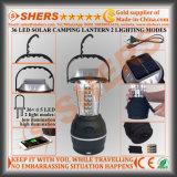 Acampa solar de la linterna 36 LED USB Outlet Dynamo de arranque