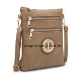 Saco de couro do mensageiro do Zipper do saco do plutônio Crossbody das mulheres do desenhador