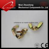 Ecrou-papillon galvanisé de jaune d'acier du carbone