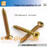 Chipboard стали углерода привинчивает винты MDF Spax (DIN7505)