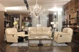 Conjunto amarillo del sofá del Recliner del cuero del diseño moderno del color
