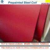 il materiale da costruzione di 0.14-0.8mm ha preverniciato la bobina d'acciaio ricoperta colore d'acciaio