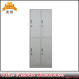 Fábrica gabinete de barato 4 roupa do aço da porta