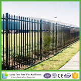 Steel Security Fence / Front Specing Spear Black Panel 2400X1500 (h) 90mm Gap