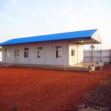 Edifício móvel/modular do painel de sanduíche claro do frame de aço/pré-fabricou/toalete Prefab do acampamento