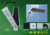 6W-120W recargable todo en una lámpara de calle solar con sensor