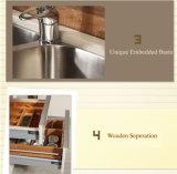 Küche-Möbel-rote hohe glatte Lack-Küche-Schränke (zz-070)