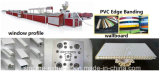 Linha da extrusão do perfil do PVC/máquina pequenas decorativas da fatura