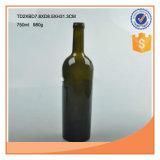 750ml de amber of Groene Flessen van het Glas van de Wijn met Cork Kurken