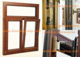 Roble sólido del estilo americano/ventana de aluminio de madera de la teca/de pino