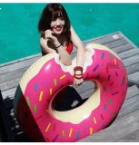 팽창식 Unicorn 지팡이 도넛 백조 수영장은 수영 반지를 뜬다