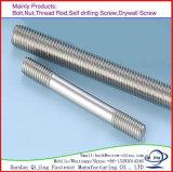 Rod roscado/roscó la cuerda de rosca galvanizada Rod del acero de carbón de la barra DIN976/la barra de la cuerda de rosca