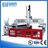 Máquina de trituração do CNC da madeira do Woodworking Ww2040s da porta da mobília do preço de fábrica
