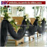 パーティーSuplyブラックチュール65ヤード結婚式の装飾(W1014)