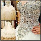 2016 جديد [ستربلسّ] بلّوريّة زفافيّ عرس ثياب [رفل001]