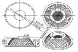 R35mm het LEIDENE van de MAÏSKOLF van 15/25 Graad Gebruik van de Lens voor de BenedenLamp van het Licht/van de Vlek