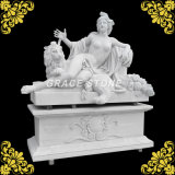 Natuurlijk Marmeren Standbeeld met Grote Basis