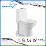 Salle de bains Siphonic avec incliner la toilette en céramique de cabinet monopièce (AT9014)