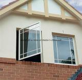 Aluminium-geöffnetes Innere-französisches Flügelfenster-Fenster mit Vorhängen