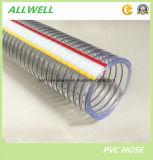 """1 """" boyau renforcé industriel en plastique de conduite d'eau de débit de fil d'acier de PVC"""